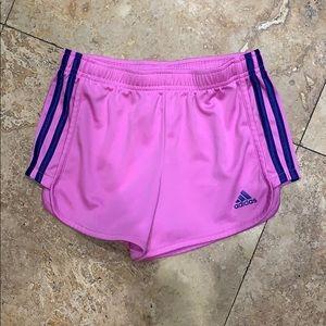 Adidas girls pink shorts